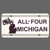 ALL-4 Michigan License Plate